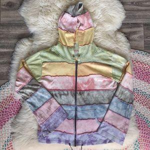 Nepal Rainbow Hoodie Zip Up Jacket